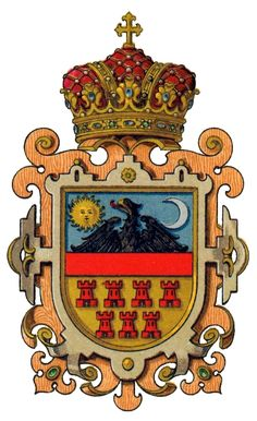 Arms of the Grand Principality of Transylvania used from 1765 until 1867 Medieval, Kids Castle, Vlad The Impaler, Family Shield, Family Roots, Family Crest, Crests, Eastern Europe, Coat Of Arms