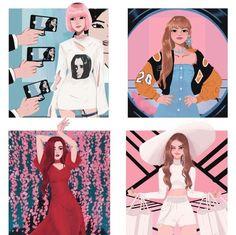 kpop fanart blackpink ~ kpop fanart & kpop fanart bts & kpop fanart nct & kpop fanart blackpink & kpop fanart stray kids & kpop fanart red velvet & kpop fanart exo & kpop fanart twice Kpop Girl Groups, Korean Girl Groups, Kpop Girls, Blackpink Jisoo, Kota Kinabalu, Fan Art, Kpop Drawings, Blackpink Memes, Black Pink Kpop