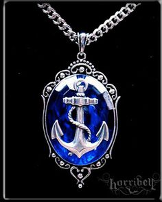 Anchor Necklace in BLUE by Horribell