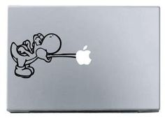 Yoshi macbook decal macbook sticker Apple mac decals by terryzhong