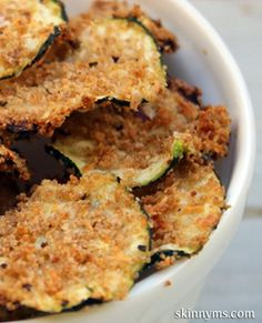 Snack smarter with these baked zucchini chips.