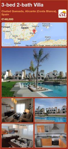 3-bed 2-bath Villa in Ciudad Quesada, Alicante (Costa Blanca), Spain ►€148,000 #PropertyForSaleInSpain