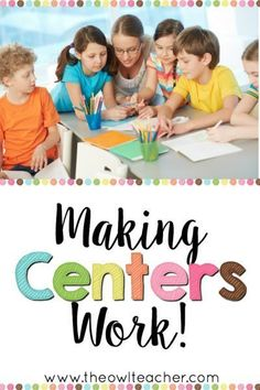You can make centers work in your classroom by reading these few tips about… Education Quotes For Teachers, New Teachers, Elementary Teacher, Teacher Resources, Teacher Tips, Upper Elementary, Reading Resources, Elementary Education, Teaching Reading