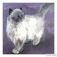 Adorable kitty cat art makes me happy!
