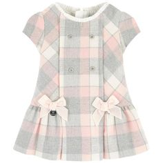 Cotton and polyester flannel, Fine cotton lining, Dress:, S Baby Girl Frocks, Frocks For Girls, Kids Frocks, Toddler Girl Dresses, Little Girl Dresses, Little Girl Fashion, Kids Fashion, Fashion Outfits, Kids Dress Patterns