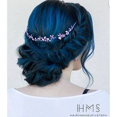 """""""Holiday Hair w/ blue fishtail flair... by @hairandmakeupbysteph ... get Steph's book or anything else in our store for 10% OFF today until midnight! GO TO BEHINDTHECHAIR.COM/SHOP or follow link in our bio USE CODE BTC10 at checkout! (Color by @bayleewiser Model: @alleyfern) #holidayhair #bluehair #fishtailbraid #behindthechair"""" Photo taken by @behindthechair_com on Instagram, pinned via the InstaPin iOS App! http://www.instapinapp.com (11/25/2015)"""