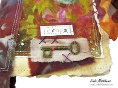 Another of the Fragments cards that I& been making recently. You can see the previous one I made here. I have lots more in various stages of progress so I& share more soon. Fabric Painting, Fabric Art, Journal Format, Creative Textiles, Fabric Journals, Creative Journal, Journal Covers, Journal Inspiration, Art Techniques