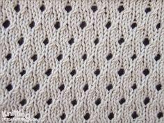 Staggered Eyelet stitch pattern   knittingstitchpatterns.com