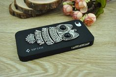 Retro silver owl iPhone 4 CaseDIY iPhone 4 and iPhone by Richardwu, $9.50