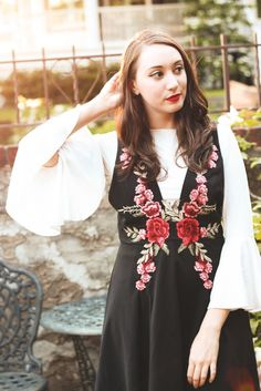 embroidery + bell sleeves!