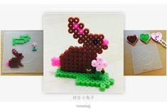 DIY Easter bunny perler beads by Peggy Wu