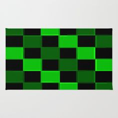 Green & Black 3D Squares Area & Throw Rug by 2sweet4words Designs - $28.00