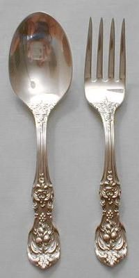 Silver Sculpture by Reed /& Barton Sterling Silver Salad Serving Set 2pc Custom