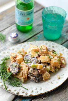 Tri Color Chipotle Bacon Potato Salad - BoulderLocavore.com