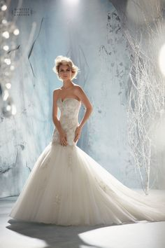 Mori Lee Bridal 1956 #fishtail #strapless #tulle