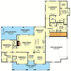 1993 sq ft. This looks good. I'd add 3 ft on to length and width of Mbr, make entire 1st floor 10 ft ceilings, put bonus over garage.