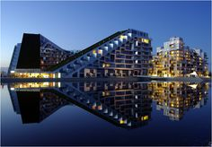The 8 House (8-tallet) Building, Southern Orestad Copenhagen, Denmark | Most Beautiful Pages