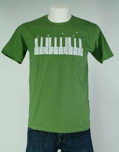 CAMISETA CITTY PIANO.Gran variedad de camisetas exclusivas, de diferentes temáticas y gran calidad. 100% algodón. ¡ Encuentra la tuya !