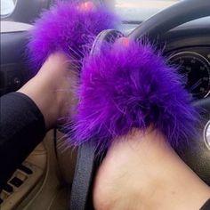 62a416c1de6816 Nike Fur Slides Purple Nike Fur Slides In Purple Passion Nike Shoes  Athletic Shoes