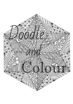 Geometric Adult Coloring Page Instant Download by Doodle and Color on Etsy