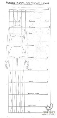 Desenhando croqui de moda - Writing Tutorial and Ideas Illustration Mode, Fashion Illustration Sketches, Fashion Sketchbook, Fashion Sketches, Art Sketchbook, Drawing Sketches, Art Drawings, Illustrations, Fashion Design Template