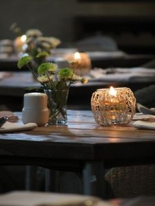 Because of the rustic theme that I am trying to aim for, I like these as table decor. I like the weave like candle holders and the little vase for a few flowers. this is simple and brings something to the table without being to cluttered.