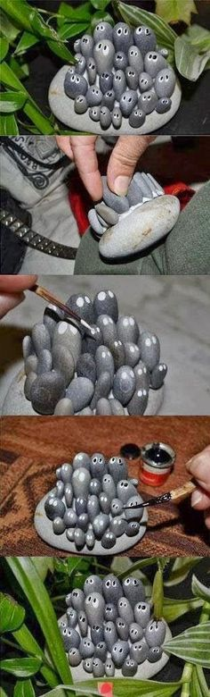 Create stone critters for the garden - Alternative Energy and Gardning.....