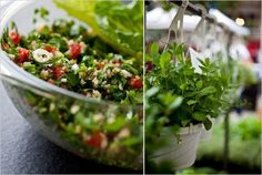 We think of tabbouleh as a bulgur salad with lots of parsley and mint But real Lebanese tabbouleh is a lemony herb salad with a little bit of fine bulgur, an edible garden that you can scoop up with romaine lettuce heart leaves or simply eat with a fork.