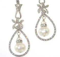 Pearl Bridal Earrings - Wedding Drop Earrings for the Bride - REAL PEARLS - Sterling silver