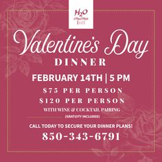 Join us for romance and spectacular views of paradise. It's the perfect time to book now for Valentine's Day. 💕 Pensacola Beach Restaurants, Bordelaise Sauce, Salmon Caviar, Valentines Day Dinner, Wine Cocktails, New Menu, Wink Wink, How To Plan