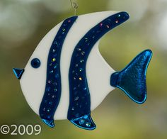 Stained Glass Fused Angel Fish