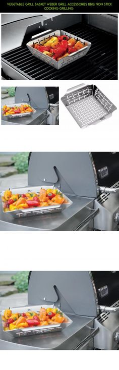 Vegetable Grill Basket Weber Grill Accessories Bbq Non Stick Cooking Grilling  #technology #drone #camera #fpv #accessories #grills #plans #shopping #gadgets #kit #parts #weber #products #tech #racing