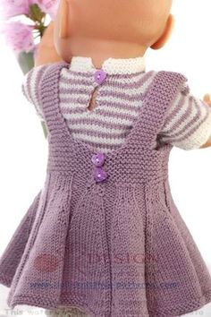 Baby Knitting Patterns Pullover Summer knitwear for your doll Knitting Dolls Clothes, Knitted Dolls, Doll Clothes Patterns, Clothing Patterns, Baby Born Clothes, Girl Doll Clothes, Baby Knitting Patterns, Crochet Patterns, Crochet Pullover Pattern