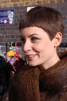 Image result for short haircut with blunt fringe