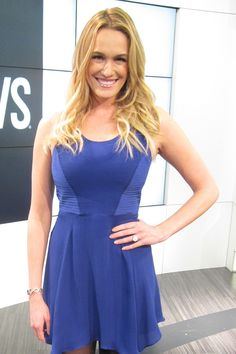 Ashlan Gorse from E!News wearing Pame zig zag bangle in a silver tone