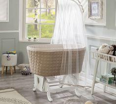 Patut cu sistem de leganare, pentru bebe Baby Cotton White / Cream, 80 x 45 cm Küchen Design, Interior Design, Siding Colors, Bebe Baby, Bassinet, Inspiration, Furniture, Babys, Home Decor