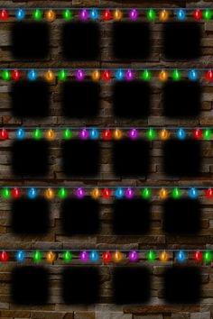 Christmas Light Shelf Wallpaper