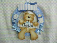 Guirlanda md urso bebê sentado | Artesanatos Ingrid Carvalho | 16E428 - Elo7