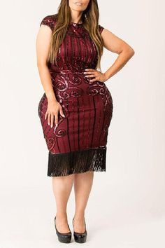 Looking for womens plus size wedding dresses? Shop Now! the perfect plus size dresses at CurveGirl for any occasion, including wedding, party and maxi dresses in all colors. Plus Size Party Dresses, Dress Plus Size, Plus Size Outfits, Women's Fashion Dresses, Girl Fashion, Sequin Dress, Bodycon Dress, Charleston Dress, Fringe Flapper Dress
