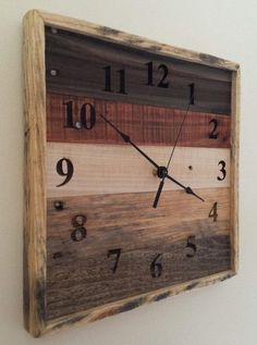 Pallet wood wall art reclaimed pallet wood square wall by RayMels