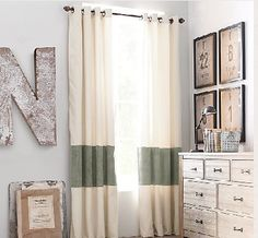 Add solid stripe to curtain to extend length.