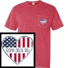 dfa0d65a Patriotic Heart Design #SomethingGreek #Patriotic #Heart Custom Greek  Apparel, Sorority Outfits,