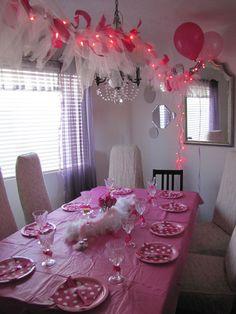 Pink Ribbon & lights garland