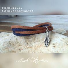 Bracelet suédine marron / marine Nude Créations Bracelets, Creations, Etsy, Boutique, Personalized Items, Leather, Jewelry, Fantasy, Objects