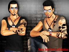 Rebel T-shirt with Necklace by Saliwa - Sims 3 Downloads CC Caboodle