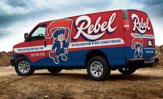 New retro logo design and truck wrap design for this HVAC contractor in Las Vegas.