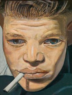 Lucian Freud, Boy smoking,1951  (This looks a lot like my grandpa who started smoking around age nine.)