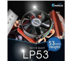 Thermolab LP53 Slim Quiet 53mm Height CPU Cooler for LGA 1155,1156