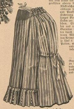 Striped silk costume-petticoat from Die Modenwelt 1887