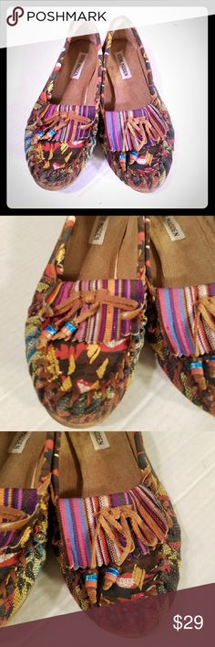 Sz 7.5M Steve Madden Teana Moccasins Women's Steve Madden Teana Bright Multi Loafer Mocassin  Kiltie Beads Size 7.5M  Sz 7.5M  See all pics for details Steve Madden Shoes Moccasins